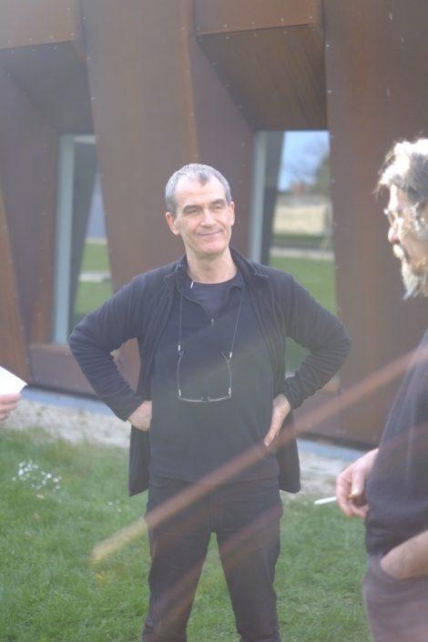 Stage de manipulation d'objets à la manière de Pierre Fourny. Pierre Fourny et Jérôme Dubouloz. Photo Emmanuel Pierrot. Soissons.2015
